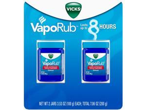 Vicks VapoRub Cough Suppressant Topical Analgesic Ointment (3.53 Ounce, 2 Count)