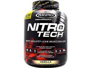 Performance Series Nitro-Tech Vanilla - Muscletech - 4 lb - Powder
