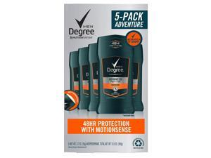 Degree for Men Advanced Protection Antiperspirant, Adventure (2.7 Ounce, 5 Pack)