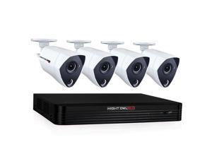 night owl cl84p24k channel 4k ultra hd wired smart security dvr with 2 tb hard drive and 4x 4k ultra hd wired infrared cameras