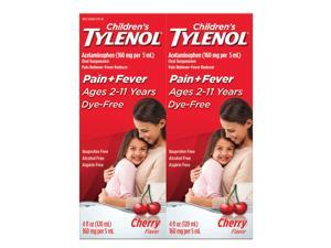 Children's Tylenol Oral Suspension, Cherry (4 Ounce, 2 Pack)