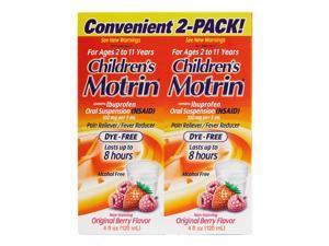 Children's Motrin Original Berry Oral Suspension (4 Ounce, 2 Pack)
