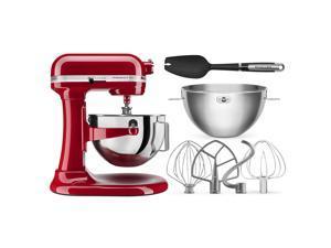 KitchenAid Professional Plus 5 Quart Bowl-Lift Stand Mixer with Bundle - Red