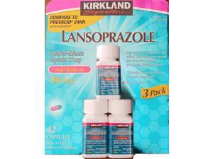 Kirkland Signature Lansoprazole 15 mg. Acid Reducer, 42 Capsules