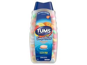 TUMS Antacid Extra Strength Smoothies, 250 Chewable Tablets