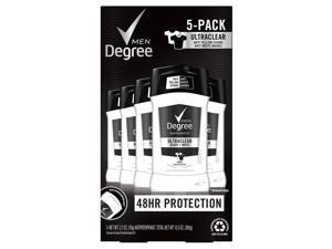 Degree Men Ultra Clear Black + White Solid Antiperspirant Deodorant, 2.7oz - 5ct
