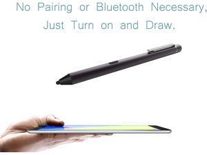 Active Stylus Pen for Apple Ipad, Digital Pencil iPad Series Rechargeable Pencil Touchscreen Precise Fine Tip for iPad 5 & 6, iPad Air 2 & 3, iPad Mini 4 & 5, iPad Pro 9.7/10.5/11 (Dark Gray)
