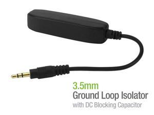 Cellet Portable 3.5mm Aux Audio Noise Filter Ground Loop Isolator