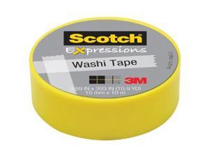 3M C314-YEL Washi Tape .59 in. x 393 in. - 15mmx10m -Yellow