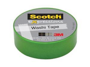3M Scotch Expressions Washi Crafting Tape: 0.59 in. x 10-9/10 yds. (Green)