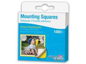 "Repositionable Mounting Squares 1000/Pkg-White .5""X.5"""