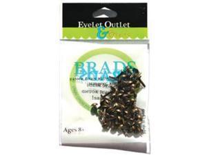 Eyelet Outlet BRD4MM-40A Eyelet Outlet Round Brads 4mm 70/Pkg-Brushed Brass