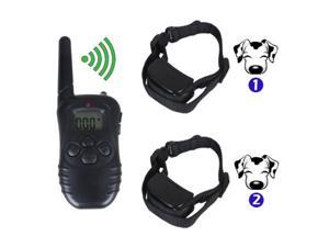 Rechargeable Waterproof Dog Pet Training Collar Shock Vibrate LCD Remote