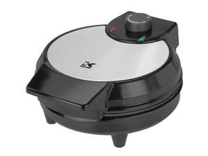 Kalorik Home Kitchen  Traditional Black and Stainless Steel Belgian Waffle Maker