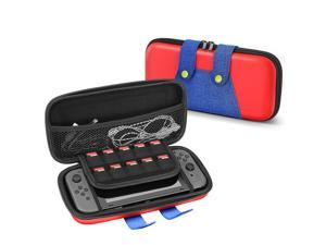 Travel Case for Nintendo Switch Mario Theme Portable Travel Carry Hard Shell EVA Material Pouch Traveler Deluxe Cover with Strap Handle for Switch Console, Joy Con Controller, Game Card Holders