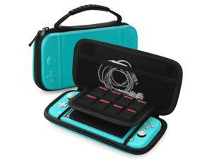 Nintendo Switch Lite Travel Case Portable Travel Carry Hard Shell EVA Material Pouch Deluxe Cover w/ Strap Handle for Switch Lite Console, 8 Game Card Holder, Joystick Pressure Relief (Blue)