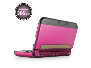 Plastic + Aluminium Full Body Protective Snap-on Hard Shell Skin Case Cover Hot Pink for New Nintendo 3DS 2015