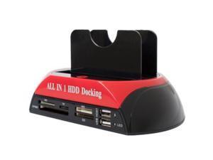 "Dual IDE SATA 2.5"" 3.5"" HDD Hard Drive Enclosure Disk Backup Copy Duplicate Clone Tool Dock Docking Station"