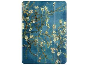 iPad Mini 1/2/3 Case - Slim Lightweight Shell Smart Cover Stand, Hard Back Protection with Auto Sleep Wake for Apple iPad Mini 1/2/3 (Almond Blossom - Van Gogh)