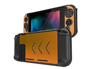 Nintendo Switch Case Cover for Console & Joy-Con Controller - Travel Friendly Aluminum Alloy Hard Shell Protector, Anti-Scratch Shockproof Protective Nintendo Switch Accessories (Gold)