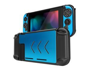 Nintendo Switch Case Cover for Console & Joy-Con Controller - Travel Friendly Aluminum Alloy Hard Shell Protector, Anti-Scratch Shockproof Protective Nintendo Switch Accessories (Blue)