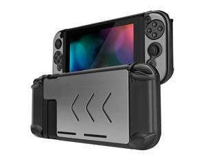 Nintendo Switch Case Cover for Console & Joy-Con Controller - Travel Friendly Aluminum Alloy Hard Shell Protector, Anti-Scratch Shockproof Protective Nintendo Switch Accessories (Silver)
