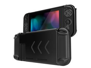 Nintendo Switch Case Cover for Console & Joy-Con Controller - Travel Friendly Aluminum Alloy Hard Shell Protector, Anti-Scratch Shockproof Protective Nintendo Switch Accessories (Black)
