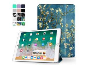 iPad Pro 10.5 Case - Ultra Slim Lightweight Smart Shell Folio Cover Case with Multi-angle Standing, Smart Auto Wake / Sleep for Apple iPad Pro 10.5 2017 Tablet (Almond Blossom - Van Gogh)