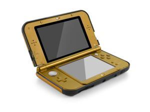 Plastic + Aluminium Full Body Protective Snap-on Hard Shell Skin Case Cover Gold for New Nintendo 3DS LL XL 2015