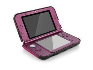 Plastic + Aluminium Full Body Protective Snap-on Hard Shell Skin Case Cover Hot Pink for New Nintendo 3DS LL XL 2015