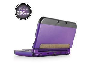 Plastic + Aluminium Full Body Protective Snap-on Hard Shell Skin Case Cover Purple for New Nintendo 3DS 2015