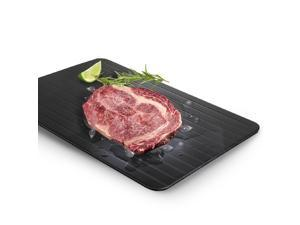 Fast Defrosting Tray - Aluminum Alloy Metal Quickly Thawing Plate Board Without Electricity Microwave Hot Water or Any Other Tools for Frozen Food Meat Beef Pork Chop Fish Time Saving Black