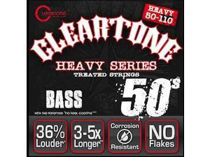 Cleartone Heavy Series Bass Guitar Strings - 4 String - 6550 - 50-110 Treated