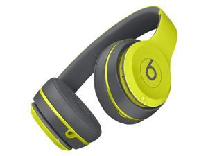 Beats Solo2 Wireless Bluetooth On-Ear Headphones With In-Line Mic (Shock Yellow)