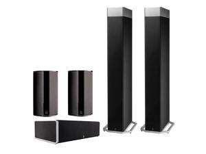 Definitive Technology BP9080 5.0 High Power Bipolar Tower Speaker Package with Integrated Subwoofers (Black)