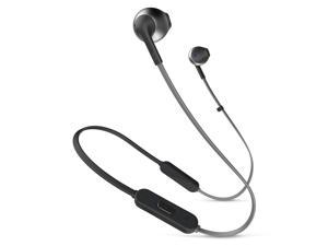 JBL T205BTBLK Tune 205BT Bluetooth Ear-Buds with Three Button Remote and Mic - Black