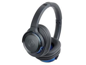 Audio Technica ATH-WS660BTGBL Solid Bass Wireless Over-Ear Headphones with Mic