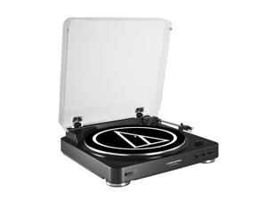 AudioTechnica AT-LP60-USB Fully Automatic Belt-Drive USB & Analog Stereo Turntable (Black)