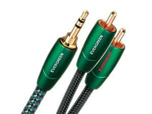 AudioQuest Evergreen 3.5mm Male to RCA Male Audio Interconnect Cable - 3.28 ft. (1m)