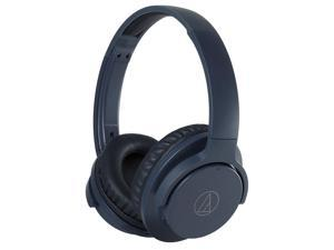 AudioTechnica ATH-ANC500BT QuietPoint Wireless Active Noise-Cancelling Over-Ear Headphones with Built-In Remote and Microphone (Navy)