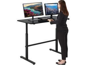 Standing Desk Converter Height Adjustable Desk Computer Workstation Large Desktop Stand Up Desk Ergotron Laptop Sit-Stand Desk Fit Dual Monitor for Home Office Black,47inches