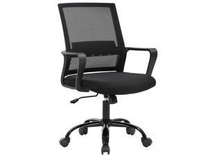 Home Office Chair Ergonomic Cheap Desk Chair Swivel Rolling Computer Chair Executive Lumbar Support Task Mesh Chair Adjustable Stool for Women&men, Black