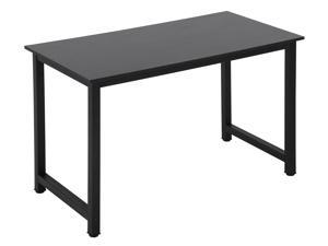 "Computer Desk Home Office Desk Gaming Desk Large 47.2""W x 23.6""D Corner Writing Black Student Art Modren Simple Style PC Wood and Metal Desk Workstation for Small Space"