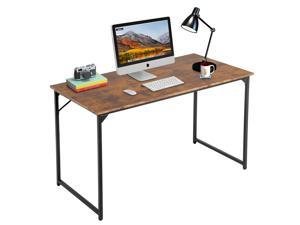 Computer Desk,47.2 inches Home Office Desk Writing Study Table Modern Simple Style PC Desk with Metal Frame,Brown