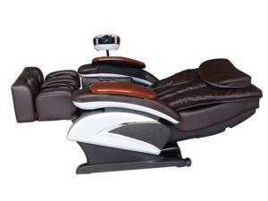 BestMassage BM-EC06C Electric Full Body Shiatsu Massage Chair Recliner with Stretched Foot Rest - Brown