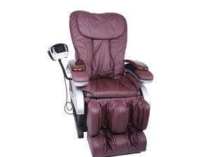 BestMassage BM-EC06C Electric Full Body Shiatsu Massage Chair Recliner with Stretched Foot Rest - Burgundy