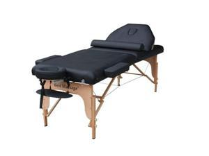 "Black 77"" Long 30"" Wide 4"" Pad Reiki Portable Massage Table"