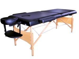 "84"" Black Portable Massage Table w/ Free Carry Case"