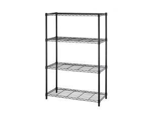 """Black 36""""x14""""x54"""" 4 Tier Layer Shelf Adjustable Steel Wire Metal Shelving Rack"""