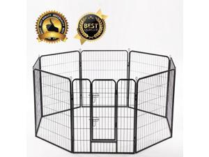 "BestPet 24""*32"" Heavy Duty 8 Panel Folding Metal Pet Playpen Dog Exercise Fence"